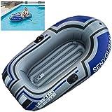 LTLWL Barca Hinchable Portátil Bote Inflable PVC Duradero Kayak Hinchable Explorer Balsa para Rafting Gran Opción para Los Amantes de La Pesca o Los Deportes Al Aire Libre,150x100cm