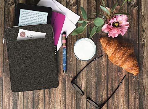 moses. libri_x E-Reader-Hülle   Schutztasche aus Filz   für E-Reader, Mini Tablets & Maxi Smartphones   mit Aufbewahrungsfach und Reißverschluss