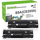 Aztech Compatible Toner Cartridge Replaces for CE285A 85A CE285 Laserjet Pro P1102W M1212nf M1217nfw P1100 M1210 (Black, 2-Pack)