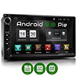 XOMAX XM-2VA757 Autoradio mit Android 9, QuadCore, 2GB RAM, 32GB ROM, GPS Navigation I Support: WiFi WLAN, 3G 4G, DAB+, OBD2 I Bluetooth, 7 Zoll / 18 cm Touchscreen, USB, SD, AUX, 2 DIN