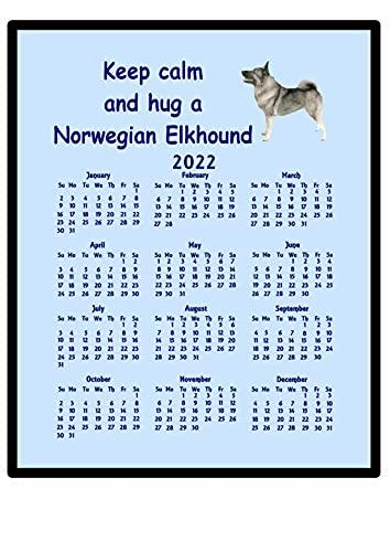 Élan Norvégien Gris – 2016 Calendrier Tapis de souris (Keep Calm)