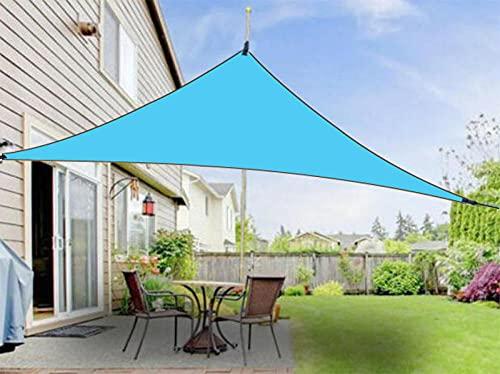 JKCTOPHOME Paño de Sombra Impermeable y Resistente al Viento,Cubiertas de Lluvia de protección Solar al Aire Libre de 3 m-Azul Cielo_4 * 4 * 4M,Toldo para Vela de Sombra de jardín