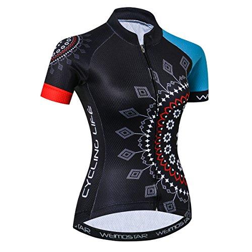 Maglia da ciclismo donna manica corta traspirante con tasche fiore - - XL ( altezza170 / 175cmpeso 54 / 64.87 kgs )