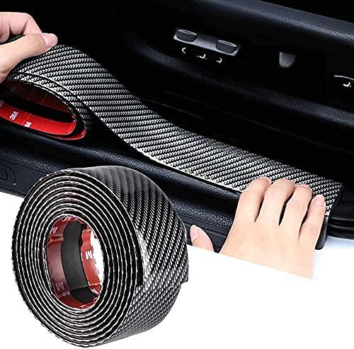 Car Sticker Carbon Fiber Rubber Door Entry Guards...