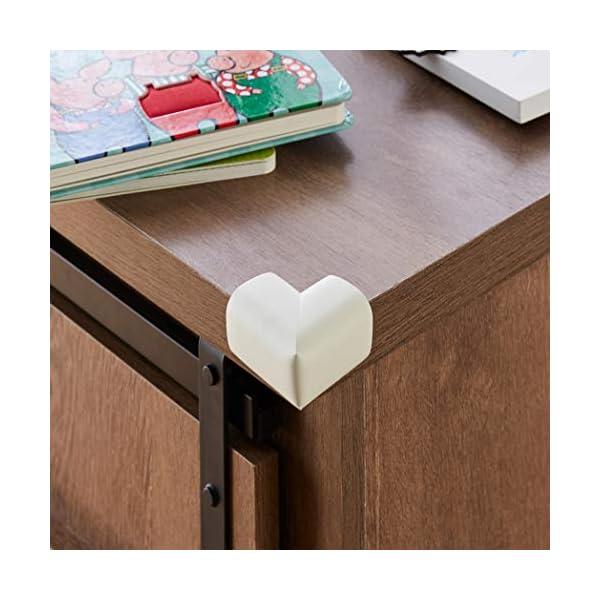 Amazon Brand - Solimo Corner Protectors for Babyproofing, White (20 Pre-taped Corner Guards) 3 510W