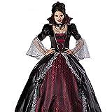 Mdjywl Traje Sexy Halloween del Traje de Las Mujeres Adultos de Raza Zombie Vampiro Bruja de Disfraces Vestido de Reina Reina Traje Negro Fiesta de Disfraces para la Fiesta