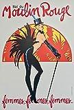 Póster de Moulin rojo Pigalle Paris 50 x 70 cm Papel 300 GR-Venta del archivo digital HD Posible consultar (tienda: cartel vintage.FR)