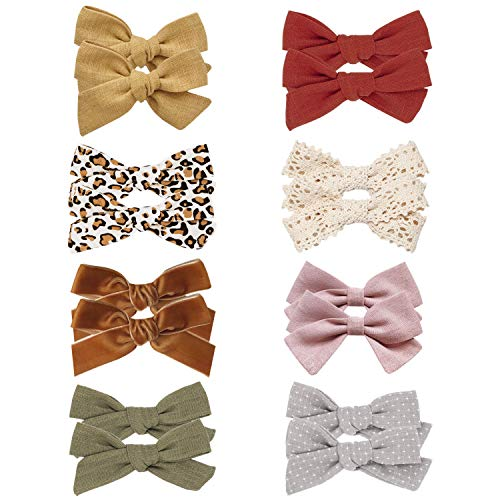 Baby Girl Hair Bow Clips Barrettes, Assorted Hair Accessories Alligator Clip for Little Girls Toddler Kids Teens