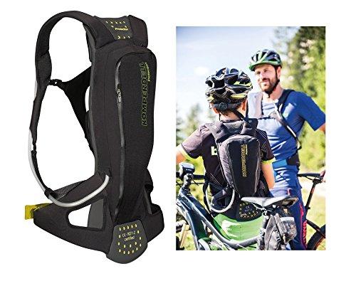Komperdell Kinder Juniorpack Protektorenrucksack Mit Integriertem Rückenprotektor, schwarz, 140-150