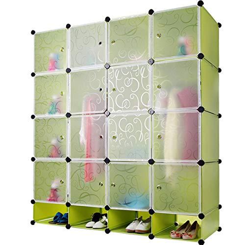 Eenvoudige combinatie kast met kledingstang kast vouwen splicing samenstel kunststof kast (Color : B, Size : 147 * 37 * 165cm)