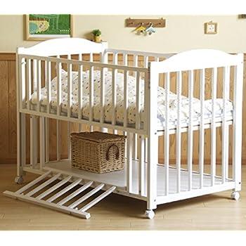 スリーピー ELISE エリーゼ ベビーベッド 収納棚付 ホワイト 日本製 クラシカルなお買い得ベッド