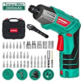 Electric Screwdriver, 6N·m Max Torque HYCHIKA Cordless Screwdriver 2000mAh 3.6V with 36 Accessories, LED...