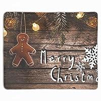 マウスパッド クリスマスクッキー 滑り止め レーザー&光学式マウス対応