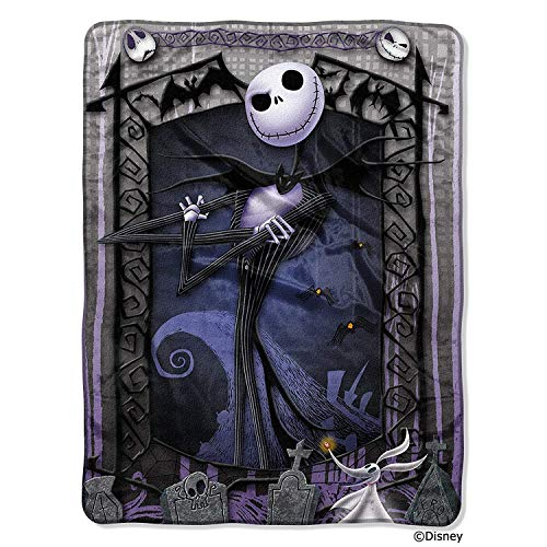 Disney The Nightmare Before Christmas Blanket Throw ~ Jack Skellington & Zero