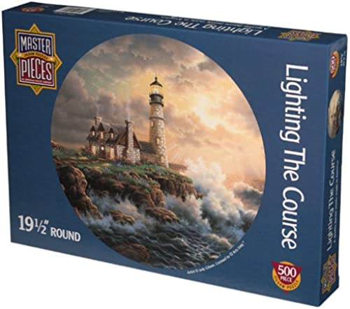 Lighting The Course 500 Piece Round Puzzle