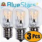 Ultra Durable 8206232A Microwave Light Bulb 40W E17 125V Replacement Part by Blue Stars - Exact Fit for Whirlpool Maytag Microwaves - Replaces 1890433 8206232 AP4512653 - Pack of 3