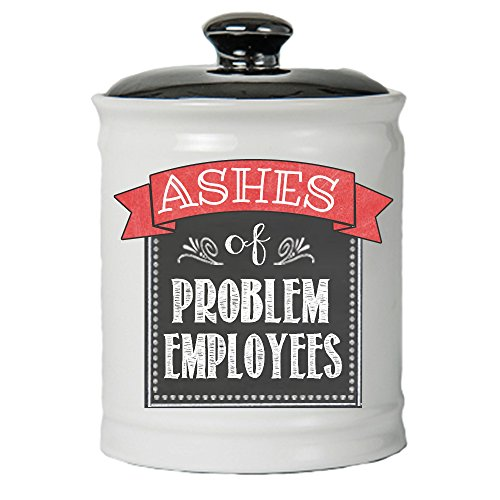 Cottage Creek Ashes of Problem Employees Decorative Jar