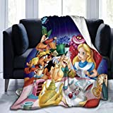 RGFK Comfort Throw Blanket,Cute Alice in Wonderland Design Warm Blanket Bedspreads for Couch Bed Sofa Travel 50 x 40 inch