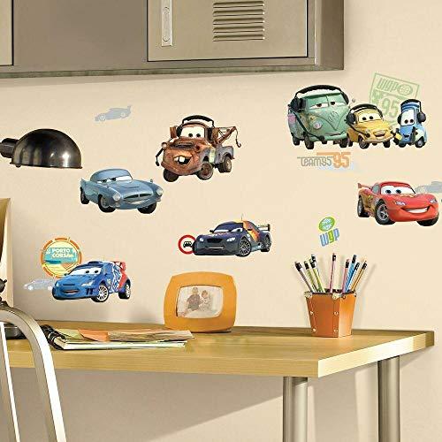 Joy Toy RMK1583SCS Autocollants muraux Disney Cars 4 Feuillage avec 25 éléments, Plastique, Multicolore, 50x50x1 cm