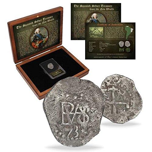 IMPACTO COLECCIONABLES Spanien Münzen - Antike münzen - Silbermünze aus den Alten spanischen Kolonien. Geprägt zwischen 1.700 und 1746
