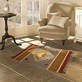 Handicraft Bazarr Alfombra de lana de yute Kilim Vintage Runner 2x3' Cama habitación piso alfombra Yoga Dhurries piso alfombra decorativa alfombra de meditación