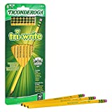 TICONDEROGA Tri-Write Triangular Pencils, Standard Size Wood-Cased #2 HB Soft, Yellow, 8-Pack (13852)