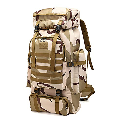 WintMing 70L Large Camping Hiking Backpack Tactical Military Molle Rucksack