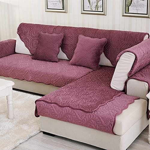 KENEL Antideslizante Funda de sofá, Funda de sofá para Sala de Estar Forro de sofá para sofá en Forma de L Deslizamiento Suave,Cubierta Protectora de Muebles de Peluche de Invierno (Solo 1 Pieza/n