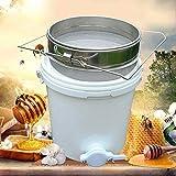 Serbatoio di Decantazione del Miele 20L, Contenitori per La Lavorazione del Miele in Plastica con Valvola e Doppi Filtri in Acciaio Inossidabile Filtro a Secchiello per Miele Filtro Estrattore