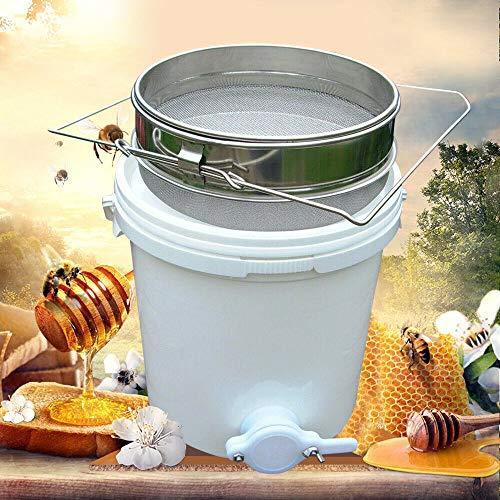 20L Honigschleuder mit Sifter Edelstahl Honigeimer für Imkerei Bienenhonig Deckel,Honigernte,Honig, Schleudern, Sieben