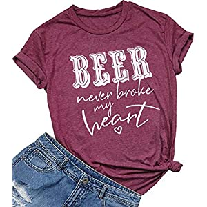 Women's Country Music T-Shirt Vintage Letters Tee Top