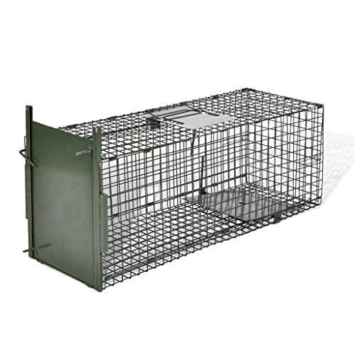 Nishore Lebendfalle Marderfalle Fallen mit 1 Tür | Tierfalle Katzenfalle Rattenfalle für Küche, Garten & Haus Katze Meerschweinchen Kaninchen 80 x 25 x 25 cm