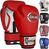 Farabi Sports Kids Boxing Gloves 4-oz Kickboxing Muaythai Punching Bag Training Gloves Age 4-8 Year (Black, 4-oz (Age 4-8) (Red, 4-oz)