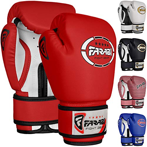 Farabi Sports Kids Boxing Gloves 4-oz Kickboxing Muaythai Punching Bag Training Gloves Age 4-8 Year...
