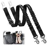 Vastar Dog Seat Belt Harness, 2 Packs Pet Dog Seat Belt Leash Adjustable Dog Cat Safety Leads...