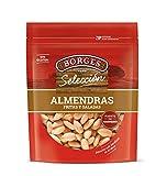 Borges - Almendras comunes en grano, sin piel, fritas y saladas - Bolsa de 200 g