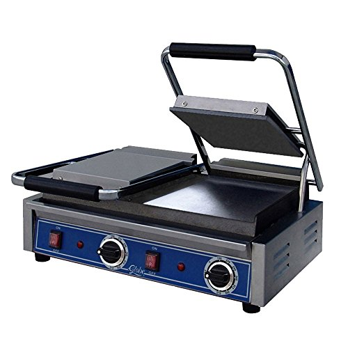 Purchase Globe GSGDUE10 Bistro Electric Countertop Smooth Panini Double Grill, NSF