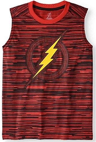 Boys Flash Logo Muscle Tank (2XL 18) Red