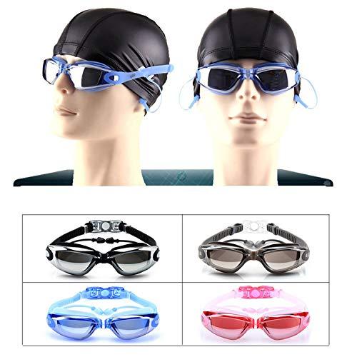 Gafas de Natación, VJK Gafas Anti Rayos UV Para Hombres Mujeres Adultos Jóvenes Niños Niño - Lo Mejor Para Hombres, Mujeres, Niños - Ideal para Todo Tipo de Agua, Piscina, Deportes Acuáticos - Negro