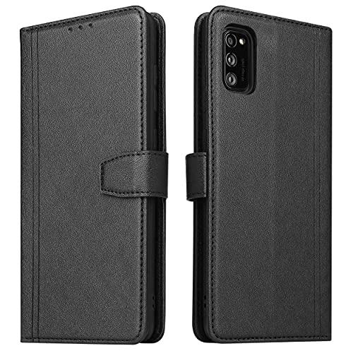 ZRANTU Hülle Samsung A41 Handyhülle mit RFID Schutz, Samsung Galaxy A41 Klapphülle Leder Handytasche, Flip Hülle Kartenfach/Magnetverschluss Brieftasche Lederhülle für Galaxy A41 (Schwarz)