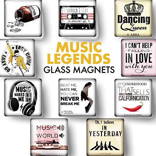 Schöne Magnete für Magnettafel – Magnete mit Musik Sprüche für Magnetwand – Süße Kühlschrankmagnete – Mini Magnete für Whiteboard – Kühlschrankmagnete Kinder für Glasmagnettafel – 10 Stück
