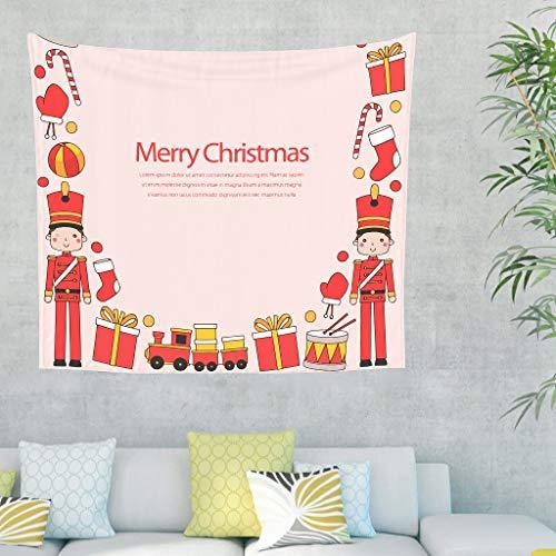 Charzee Fröhliche Weihnachten Wandtuch Berg Wand aufhängen Beach Tapestry Yoga Mat, Quality Hippie für Wohnzimmer Schlafzimmer Wohnheim Decor White 200x150cm