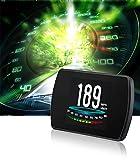 Upwade T800 Universal Car HUD Head Up Display GPS Speedometer Speedup Test Brake