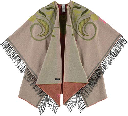 FRAAS Damen Sustainability Edition - Cashmink®-Poncho - Made in Germany kuschelig & wärmend Camel