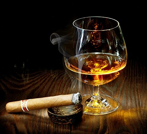 Wallmonkeys FOT-24943502-30 WM345974 Cigar and Cognac Peel and Stick Wall Decals (30 in W x 27 in H), Medium-Large