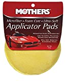Mothers 156501 Yellow Microfiber Ultra Soft Applicator and Cleaning Pads for Auto and Tires (Two 5 Inch Pads)