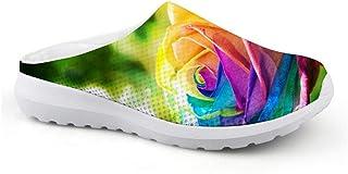 Sandalias Unisex Transpirables de Malla con diseño de Rosas, para Verano, para la Playa, Antideslizantes, para Actividades...