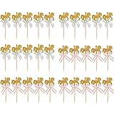 anme 30 Piezas Caballo Tarta, Decoración Carrusel Toppers, Decoraciones de Pasteles de Caballos para Cumpleaños, para Decorar Postres y Tartas (Rosa y Azul)