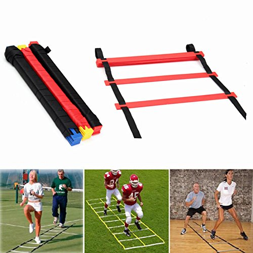 IPRee 20 Rungs Speed Agility Ladder Voetbal Sport Ladder Training Draagtas Geel