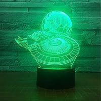 3D Ledナイトライトスターウォーズミレニアムファルコン地球ランプ男の子寝室の装飾電球子供のおもちゃ子供のギフトルミナリア
